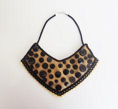 SALE Statement necklaceBib Necklace Modern by MontradaCarolina