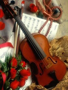 He was afraid to play his violin again, but when Meredith asked, he gathered up his courage.  From A Very Merry Christmas in the anthology Holiday Magic