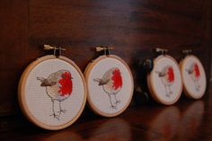 Cross Stitch Robins by Mooncalf Makes