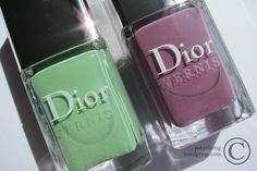 Scentsy original colors!  Dior Vernis Gardent Party Scented Nail Polish In 504 Waterlily & 694 Forget-Me-Not - 2
