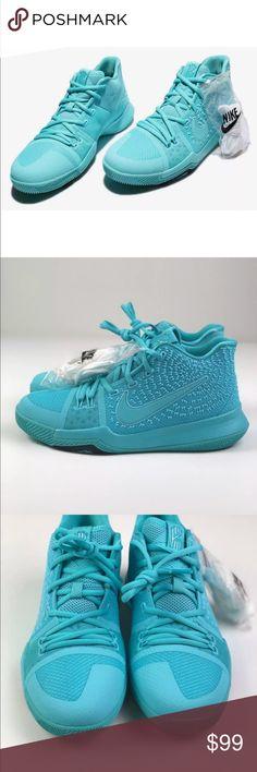 f82c0cfd7519 Nike Youth Kyrie 3 Aqua Basketball Shoes GS Sz 7Y