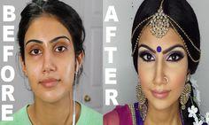 Amazing Makeup Transformation! Indian Weding Makeup   Indian/Bollywood/South Asian Bridal Makeup   Start to Finish   Mona Sangha