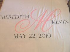 Wedding Aisle Runner, Custom Aisle Runner with Monogram/ Pink and Grey on Quality Fabric Runner that Won't Rip or Tear by StarryNightDesign on Etsy https://www.etsy.com/listing/44612666/wedding-aisle-runner-custom-aisle-runner