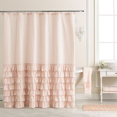 pale pink shower curtain. Waterfall Ruffle Shower Curtain http rstyle me n fdkf6pdpe  Bathroom Break Pinterest Urban outfitters Blue and Waterfalls