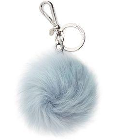 MICHAEL Michael Kors Fur Pom Pom Keychain - Handbags & Accessories - Macy's