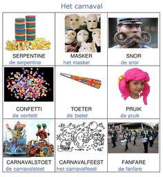 Woordkaarten : het carnaval