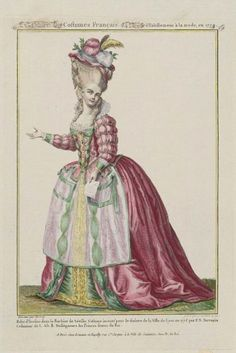 "Gallerie des Modes, 1779.  A costume from the ""Barber of Seville""  I LOVE when they do costume plates!"
