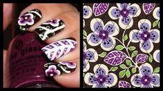 Plum Petal nails from Vera Bradley