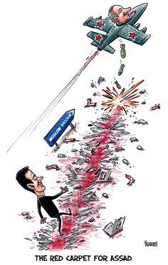 SYRIA & RUSSIA   Oct/22/15 Gatis Sluka - Latvijas Avize - The red carpet for Assad