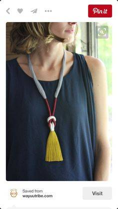 Boho Necklaces for Women Long Layered Bohemian Hippie Jewelry Made with Genuine Leather – Fine Jewelry & Collectibles Tassel Jewelry, Textile Jewelry, Fabric Jewelry, Jewelry Art, Jewelery, Jewelry Accessories, Jewelry Design, Jewelry Ideas, Fabric Necklace