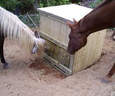 Cataloochee Free Choice Pasture Hay Feeder - I am making one of these for my horses!