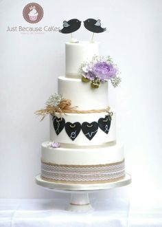 #rusticweddingcakes, #chalkboardcakes, #sugarpeony #whiteweddingcakes loved making this cake so much and it had a fab response at wedding fayres