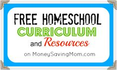 HUGE list of homeschooling & educational freebies, curriculum, and resources!