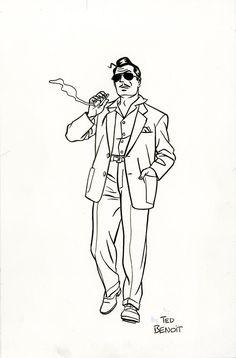 Ray Banana, illustration de Ted Benoit, d'après la couverture de Cité lumière, 2009.