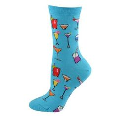 Hot Sox Classic socks Tropical Drinks Trouser turquoise 1 pair Hot Sox. $5.99