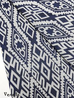 thai woven fabric tribal fabric native fabric by the yard ethnic fabric aztec fabric craft supplies woven textile 1 2 yard white blue wf71