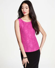 Lace Overlay Shell