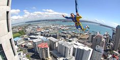 Looking for things to do in Auckland New Zealand activities? SkyJump off the Sky Tower in Auckland. New Zealand's highest jump!