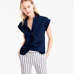 Short-sleeve popover : Women tops & blouses | J.Crew