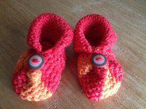 loom knitted baby booties