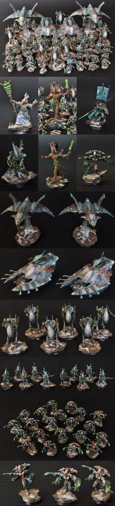 eldar army-I like the paintjob but bot the theme.