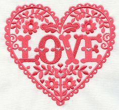 Love and Flowers Heart | Urban Threads: Unique and Awesome Embroidery Designs