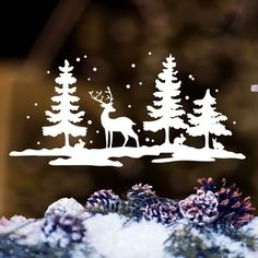 Mod: 262 Stickers In Natal Showcase stickers . can find Moose and more on our website. Mod: 262 Stickers In Nat. Paper Christmas Decorations, Christmas Stickers, Christmas Art, Christmas Wreaths, Christmas Ornaments, Holiday Decor, Christmas Landscape, Window Art, Window Picture