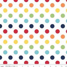 "Medium Dot Wideback 108"" WB360-01 Rainbow by Riley Blake"