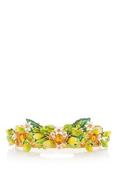 Lemon Embellished Hairpiece by DOLCE & GABBANA for Preorder on Moda Operandi