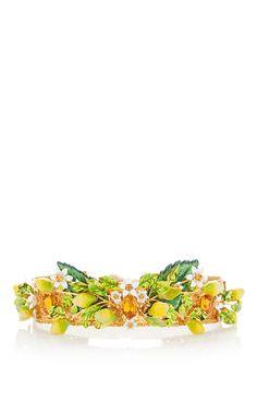 Lemon Embellished Hairpiece by DOLCE & GABBANA for Preorder on Moda Operandi