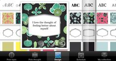 You can choose between different background patterns, shapes, fonts and font colors to create your own unique thought card or powerful affirmation card.