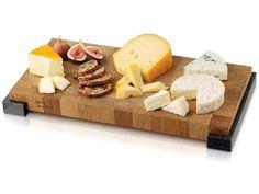 Käse und Brotbrett  Mit diesem Käse- und Brotbrett aus hochwertigem, massivem europäischen Eichenholz und Marmor präsentieren Sie stilvoll Ihren leckersten Käse und frisches Baguette. Holz ist von Natur aus antiseptisch und erhält die Lebensdauer Ihrer Messer. Abmessungen: 40 x 20 cm. Manhattan-Kollektion: Verbindet Topqualität und Stil. Ihre Wahl für Käse und Charakter!