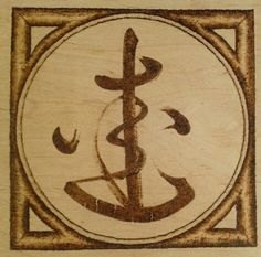"Sanskrit symbol for Metta - meaning ""Lovingkindness""  Woodburned with warm, earthy tone by New England artist, Jason Gianfriddo"