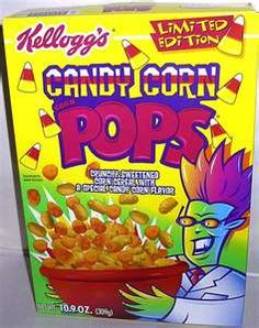 Candy Corn Pops...looked bad, tasted even worse. Plus, look at that mascot...Hello, '90s!
