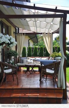 # backyard 28 creative ways to cover your patio 0 ., 28 creative ways to cover your patio 00028 When age-old in notion, the particular pergola have been encountering somewhat of a modern day rebirth these days. Back Patio, Patio Roof, Pergola Patio, Pergola Plans, Pergola Kits, Pergola With Shade, Pergola With Curtains, Porch Curtains, Patio Shade