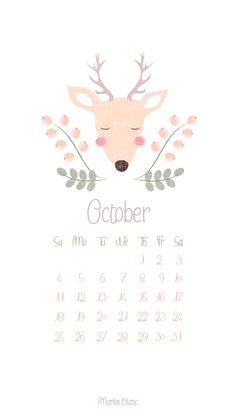 october calender ©Marion Blanc