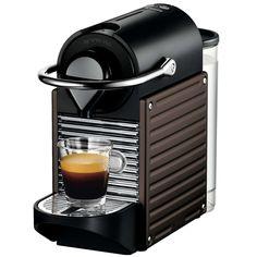 Discover the Krups Nespresso Pixie Dark Brown Coffee Maker XN3008 at Amara