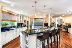 Oh this kitchen!! A fabulous rental in Kahala, Oahu, Hawaii. Contact Kelly ~ kelly@carvillsir.com
