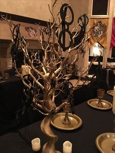 Gryffindor Centerpiece From A Harry Potter Birthday Party