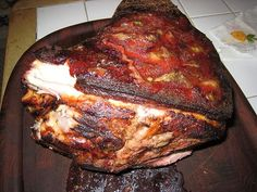 Pernil aka pork shoulder roast. PR Style!    El Boricua, a bilingual , cultural publication for Puerto Ricans