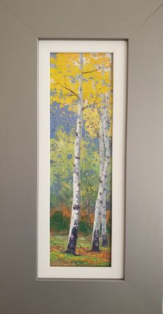 Painting Trees, Painting & Drawing, Watercolor Paintings, Birches, Autumn Scenery, Mini Paintings, Landscape Art, Artsy Fartsy, Flower Art