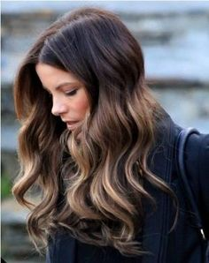 Dark Brown Hair with Caramel Ends picture Dark Brown Hair with Caramel Ends Highlights by morecerv.