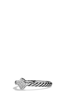 David Yurman 'Cable Collectibles - Quatrefoil' Ring with Diamonds available at #Nordstrom