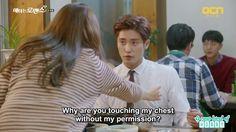 yoo mi touching jin wook's chest - My Secret Romance: Episode 6
