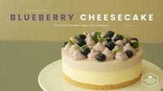 블루베리 크림치즈 무스케이크 만들기 : How to make Blueberry Cream Cheese Mousse Cake : ブ...