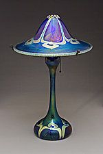 Art Glass Lamp by Carl Radke  could i do this in paper?  maybe