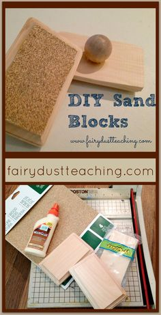 DIY Sand Blocks! Great for sensory explorations and handwork projects.