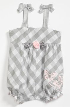 Little Me 'Butterfly' Coveralls (Infant) available at #Nordstrom