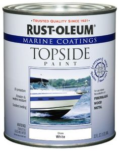 to paint our table - Rust-Oleum 206999 Marine Topside Paint, White, 1-Quart Rust-Oleum