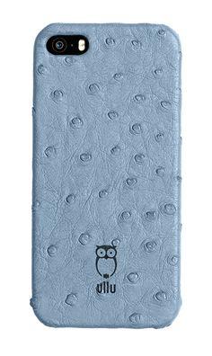 Ullu iPhone 6 case in blue jeans ostrich leather